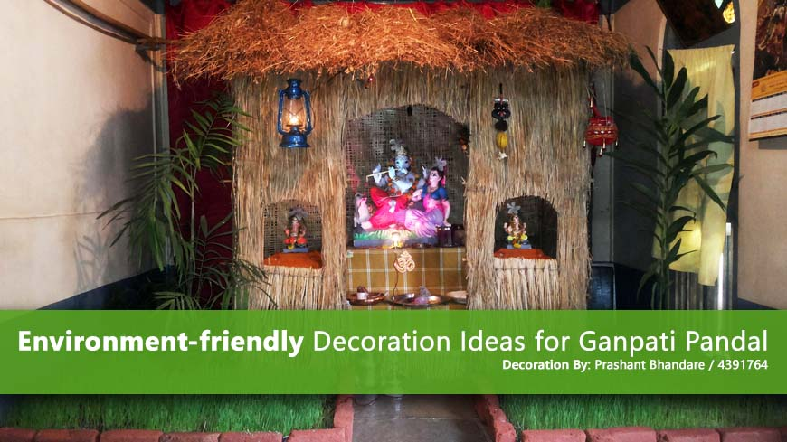 Creative ways to celebrate ganesh chathurthi home decor Environmentally friendly decorations