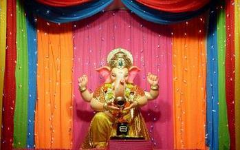 beauty of ganesh decorations at home ganpati tv