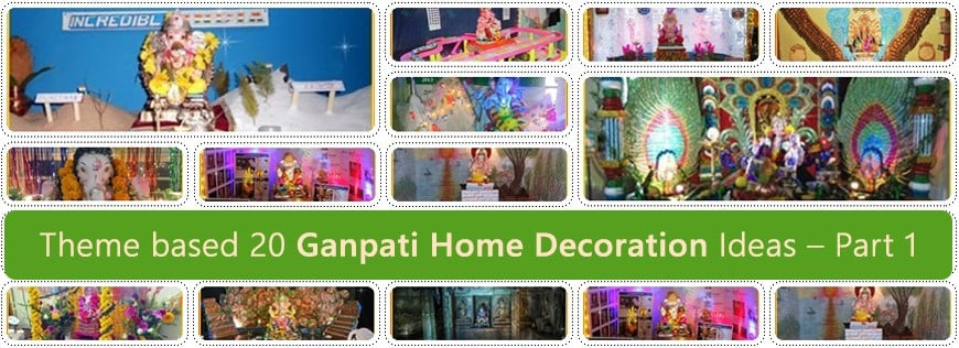 Theme based 20 Ganpati Home Decoration Ideas – Part 1