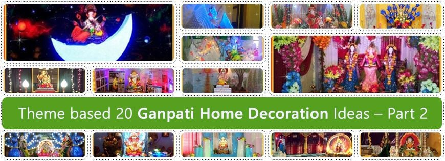 Theme based 20 Ganpati Home Decoration Ideas – Part 2