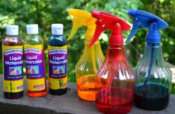 Ganpati Decoration Ideas Color Spray Bottles