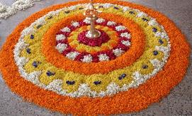Ganpati Decoration Ideas Flowers Rangoli