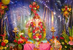Ganpati Decoration Ideas Fresh Flower Ganpati Decoration