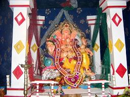 Ganpati Decoration Ideas Pandal Ribbons Laces Borders