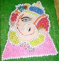 Ganpati Decoration Ideas Thermocol Rangoli