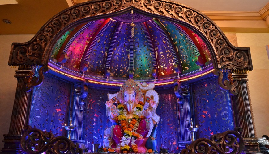 Ganpati Decorations and the Decked up Pandals